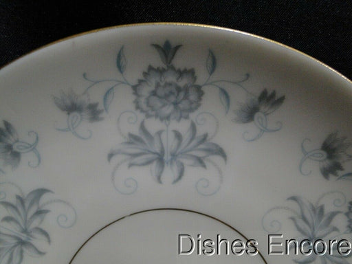"Castleton Caprice, Gray Floral, Gold Trim: Saucer Only 7"" AS IS, No Indention"