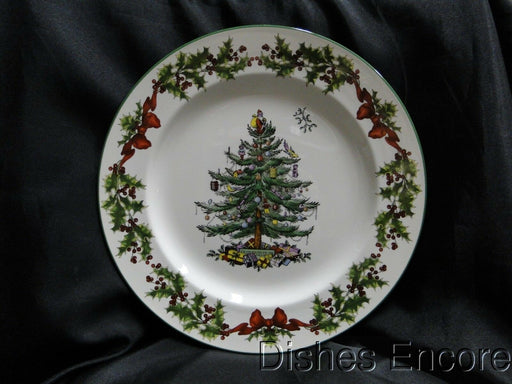 Spode Christmas Tree, Green Trim, England: Charger / Plate / Platter (s) 12 3/4""
