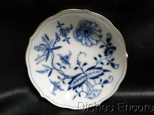 "Meissen Blue Onion,Gold Trim""X"" Backstamp: Demitasse Saucer Only AS IS"