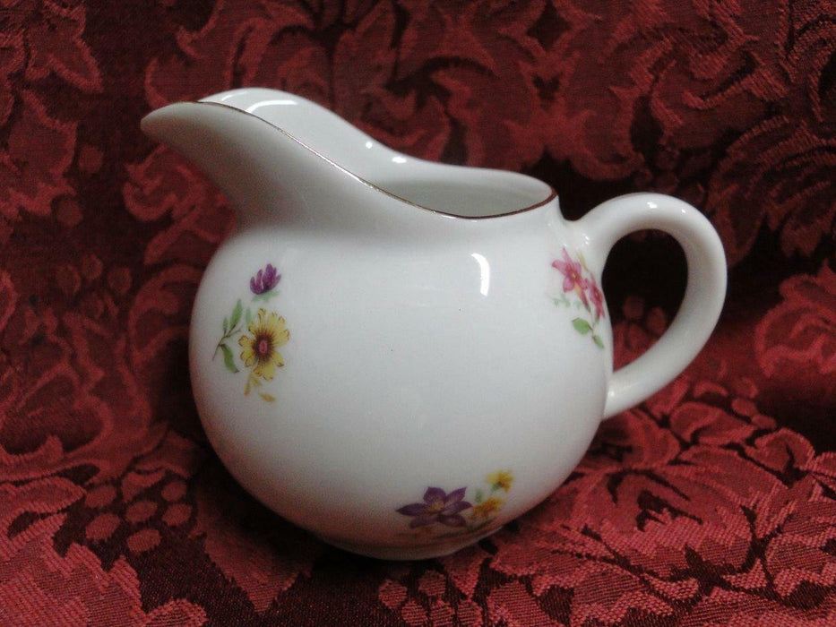 Arzberg, White w/ Multi Flowers, Gold Trim, Shape 2025: Cream Pitcher 2 7/8""