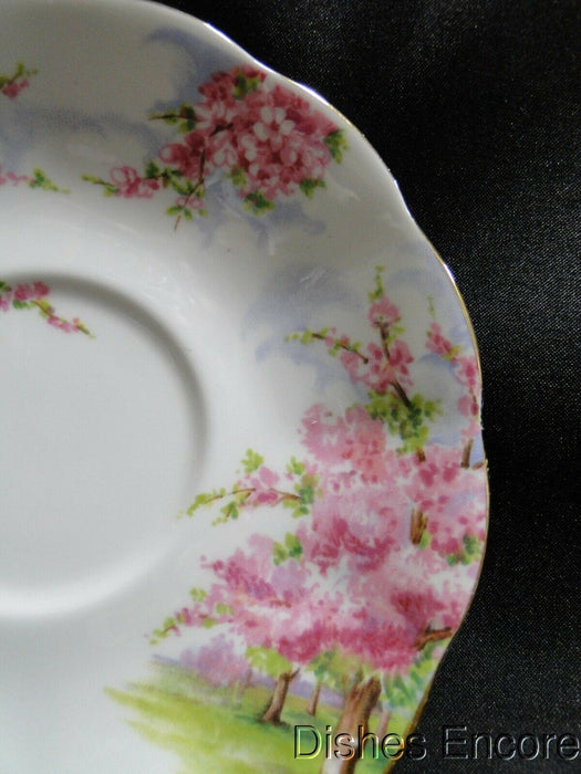 "Royal Albert Blossom Time, Pink Flowering Trees: 5 1/2"" Saucer Only, No Cup"
