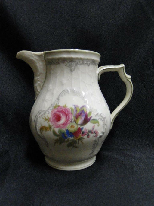 Rosenthal 3319, Ivory w/ Florals, Gray, Green Trim: Creamer / Cream Pitcher, 5""