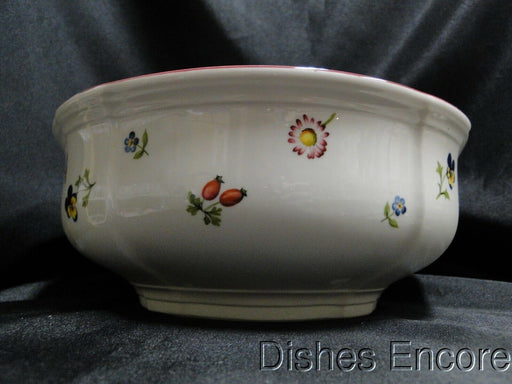 Villeroy & Boch Petite Fleur, Small Flowers, Red Trim: Round Serving Bowl 8 1/4""