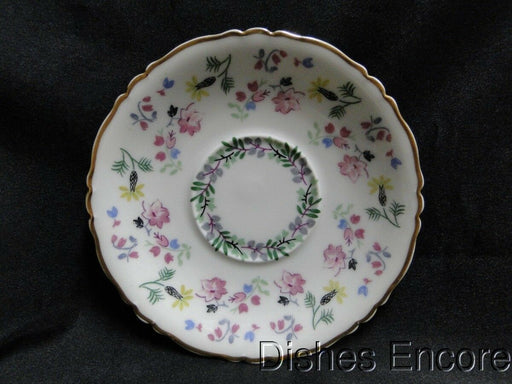 Haviland (Limoges) Blue Bell Gold Trim: Saucer (s) Only 5 3/4""
