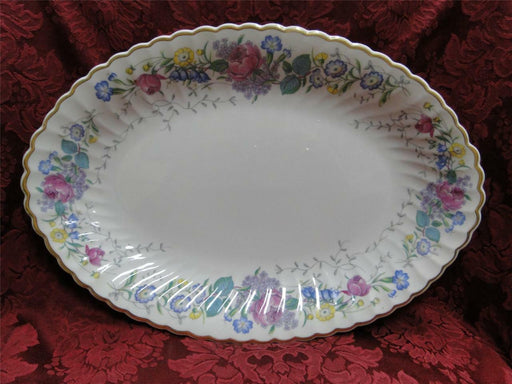 Syracuse Lilac Rose, Multicolored Floral Rim: Serving Platter, 16.25""