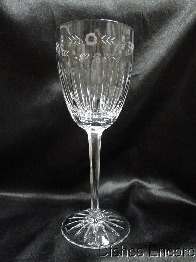 Wedgwood Calendore, Floral, Vertical, & Panel Cuts: Water Goblet (s), 8 3/4""
