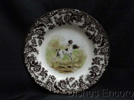 "Spode Woodland Flat Coat Pointer Hunting Dog: NEW Salad Plate (s) 7 3/4"", Box"