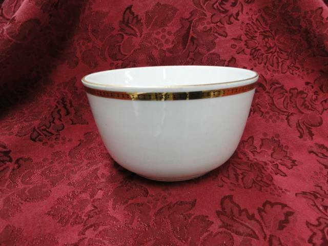 Noritake The Angora, 58585, Gold & Black Circles & Dots: Cranberry Bowl, 5.25""