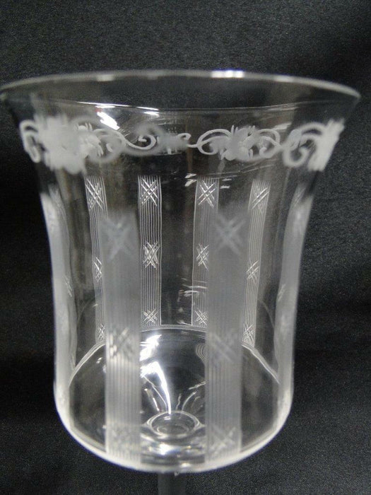 Hawkes 9-2 Cut Vertical Lines with X's: Water Goblet (s) 6 1/2""