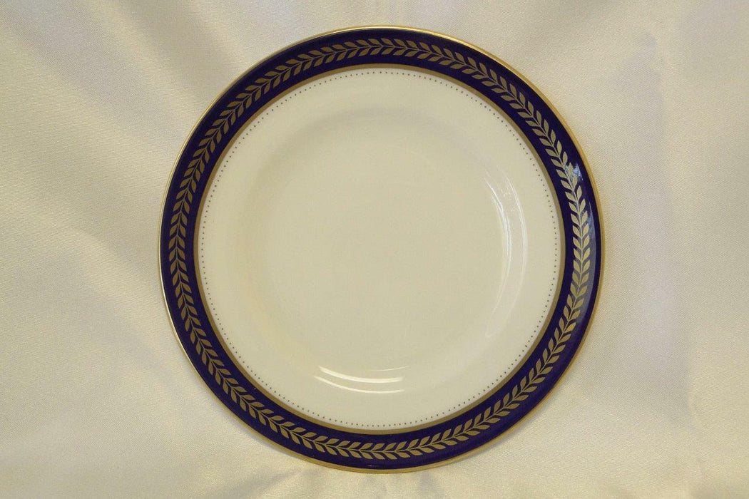 Coalport Blue Wheat, Bone, Gold Laurel on Cobalt Band: Bread Plate (s) AS IS