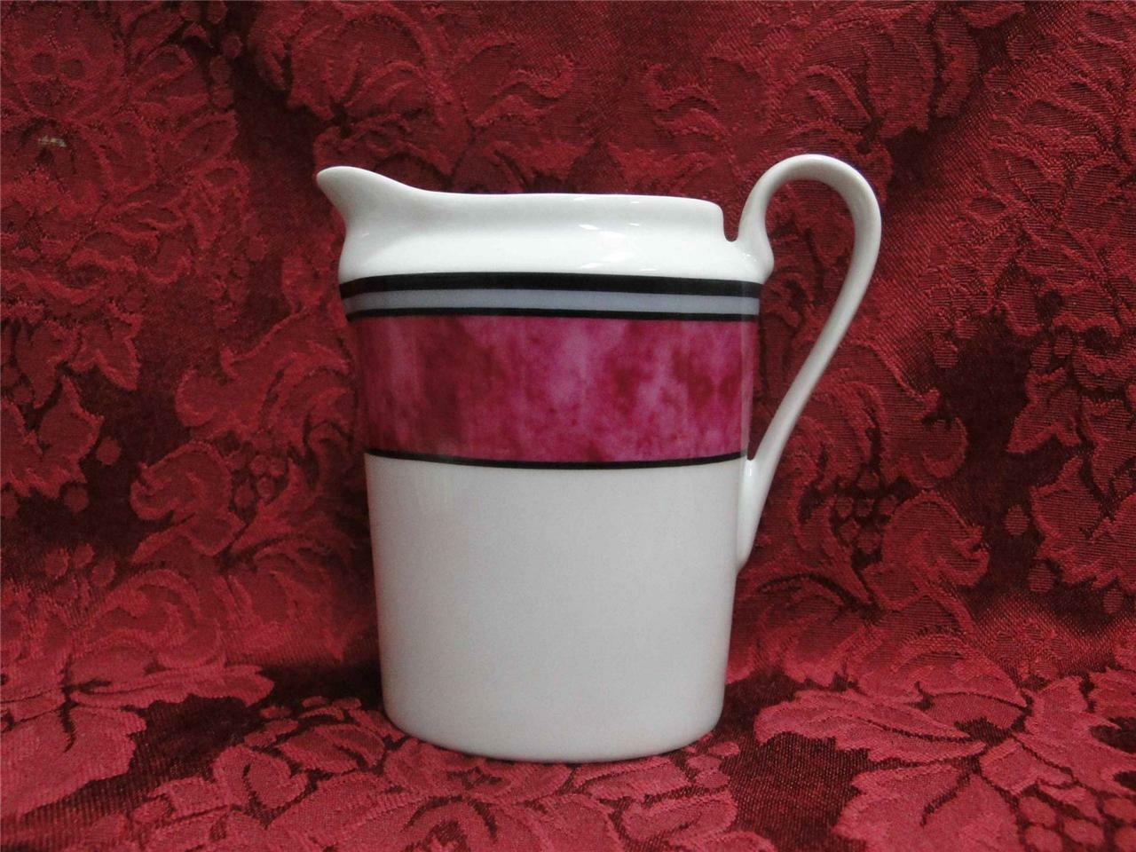 Philippe Deshoulieres Cordoba Fuschia, Marble with Gray Band: Creamer