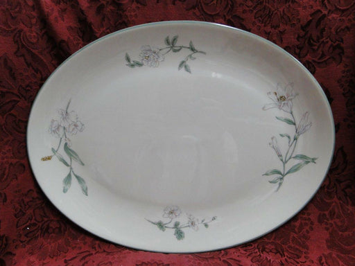 Gorham Melrose, Town and Country, Green Trim: Oval Serving Platter 13 7/8""
