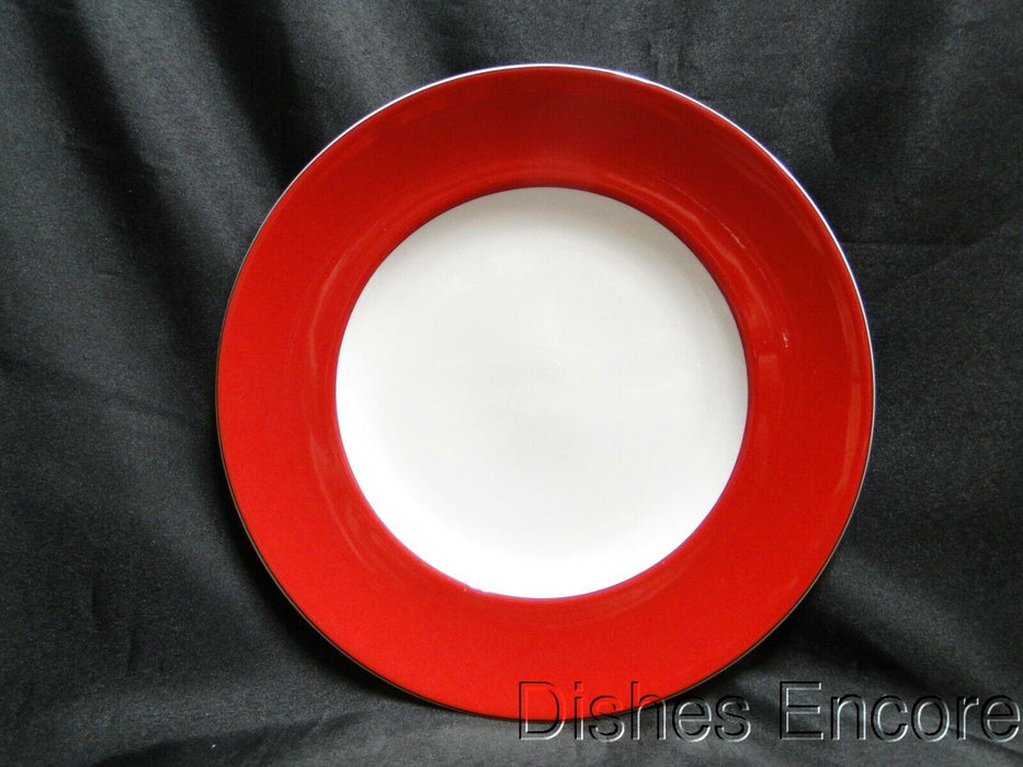 Kate Spade (Lenox) Rutherford Circle Red, Red Band: Luncheon Plate (s), 9 3/8""
