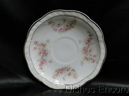 "Zeh, Scherzer & Co 508, Pink Rose Garland: 4 7/8"" Demitasse Saucer (s), No Cup"