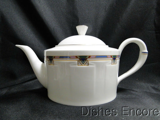 "Villeroy & Boch Park Avenue, Paloma Picasso: Teapot & Lid, 5 1/8"" Tall"
