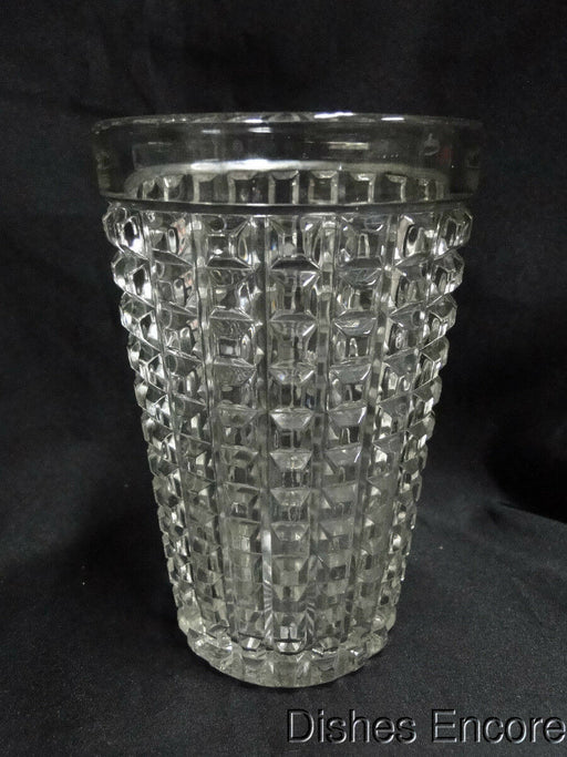 "Imperial Glass Monticello Clear with Squares: 6 1/4"" Vase"