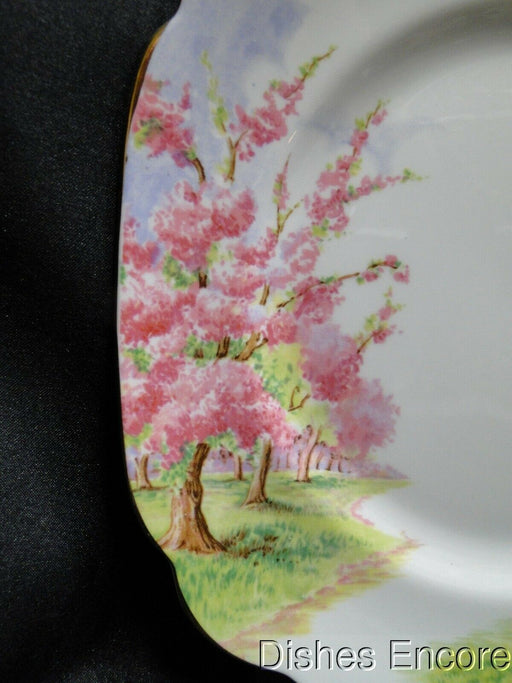 Royal Albert Blossom Time, Pink Flowering Trees: Square Salad Plate (s), 7 3/4""