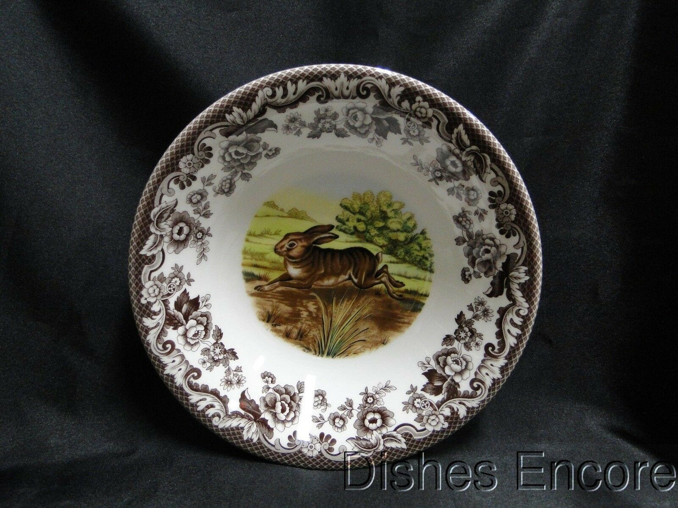 "Spode Woodland Rabbit, Bunny: NEW Ascot Cereal / Soup Bowl, 8"", Box"