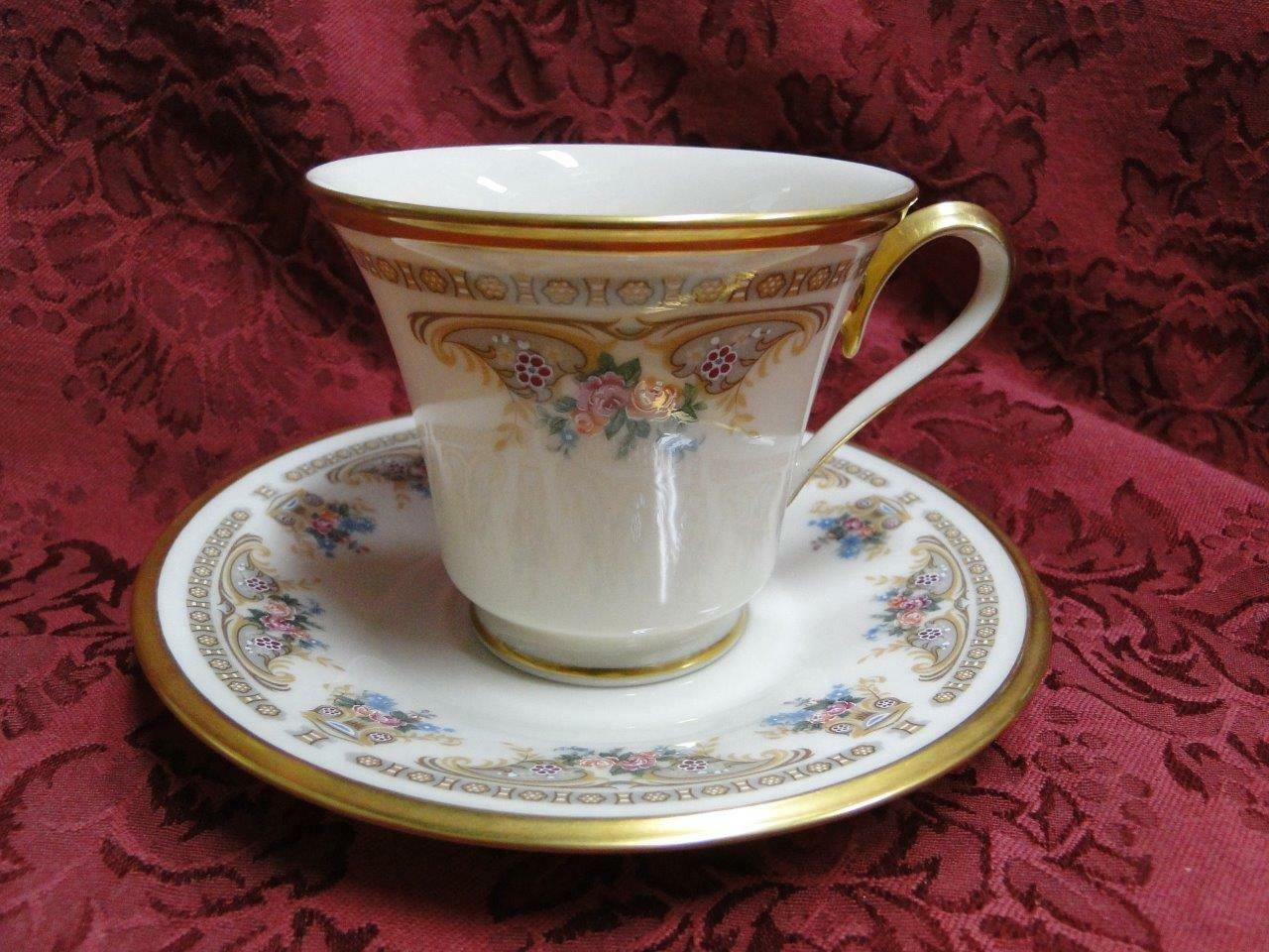 Lenox Versailles, Floral with Gold Trim: Cup and Saucer Set (s)
