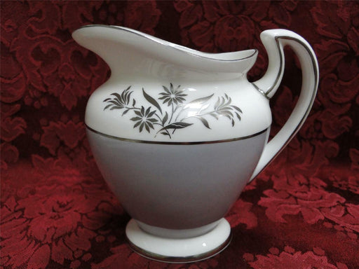 Royal Doulton Kingsmere H4909, Gray Band, Platinum Flower: Creamer/Cream Pitcher