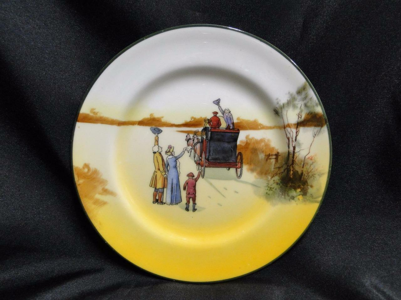 "Royal Doulton Coaching Days, Waving Goodbye to Coach: Bread Plate, 6 7/8"", 5c"