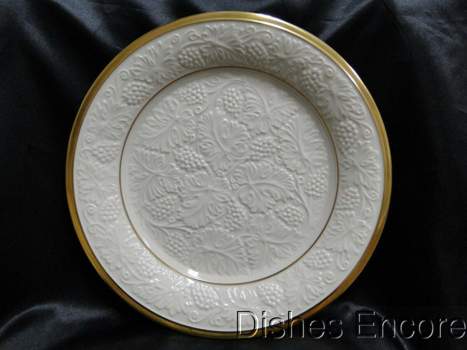 Lenox Plantation Collection, Ivory, Embossed Grapes, Gold: Round Platter 12.75""