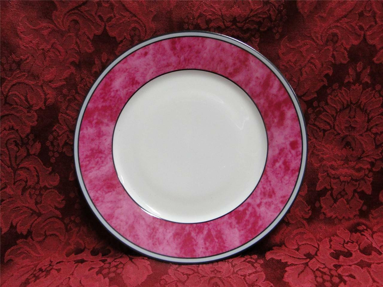 Philippe Deshoulieres Cordoba Fuschia, Marble with Gray Band: Salad Plate (s)