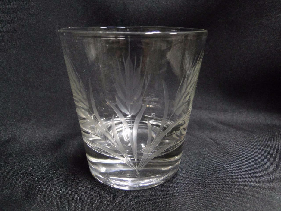 "Clear with Gray Cut Wheat: Tumbler (s) 3 1/4"" -- CR#077"