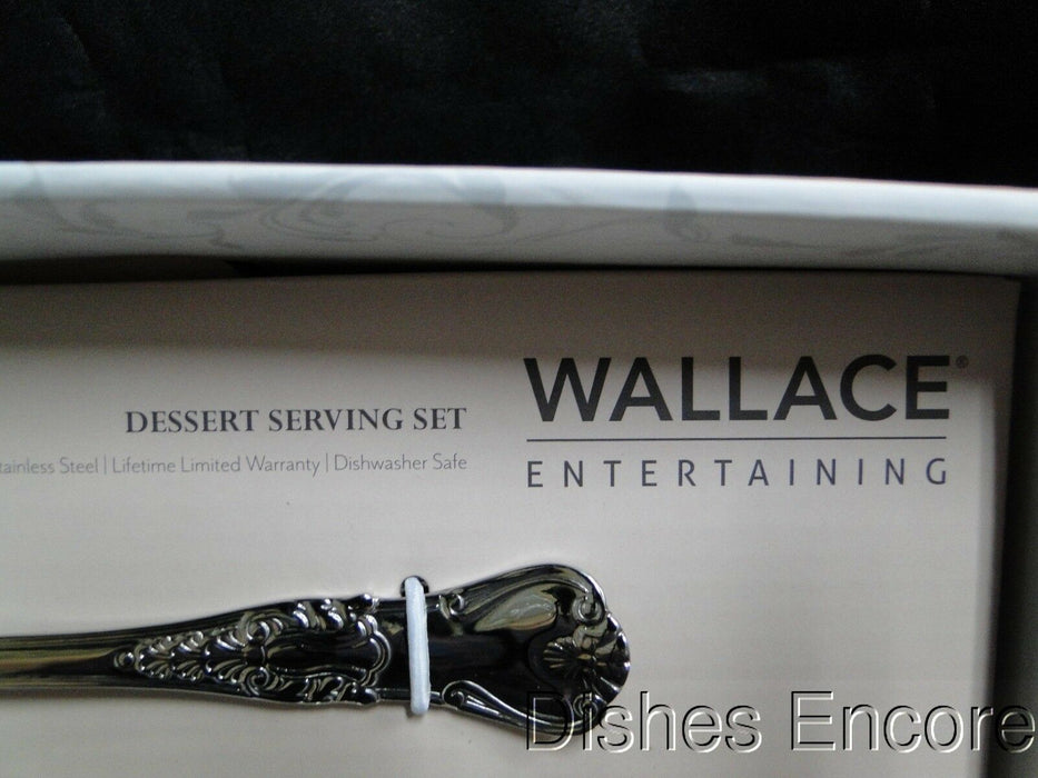 Wallace NEW William & Mary Cake Knife and Coburg Cake Server Dessert Set