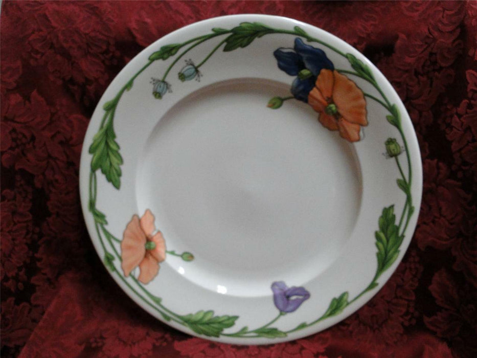 Villeroy & Boch Amapola, Blue & Orange Flowers: Round Serving Platter, 12 1/2""