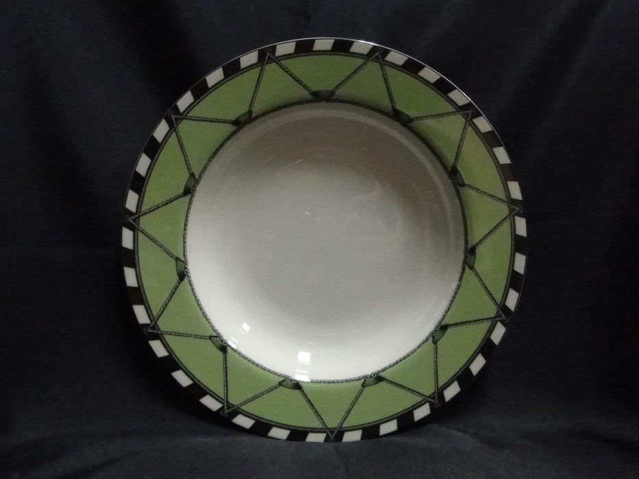 Swid Powell Drum Apple, Green Rim, Geoffrey Beene: Rim Soup Bowl (s), 8.5""