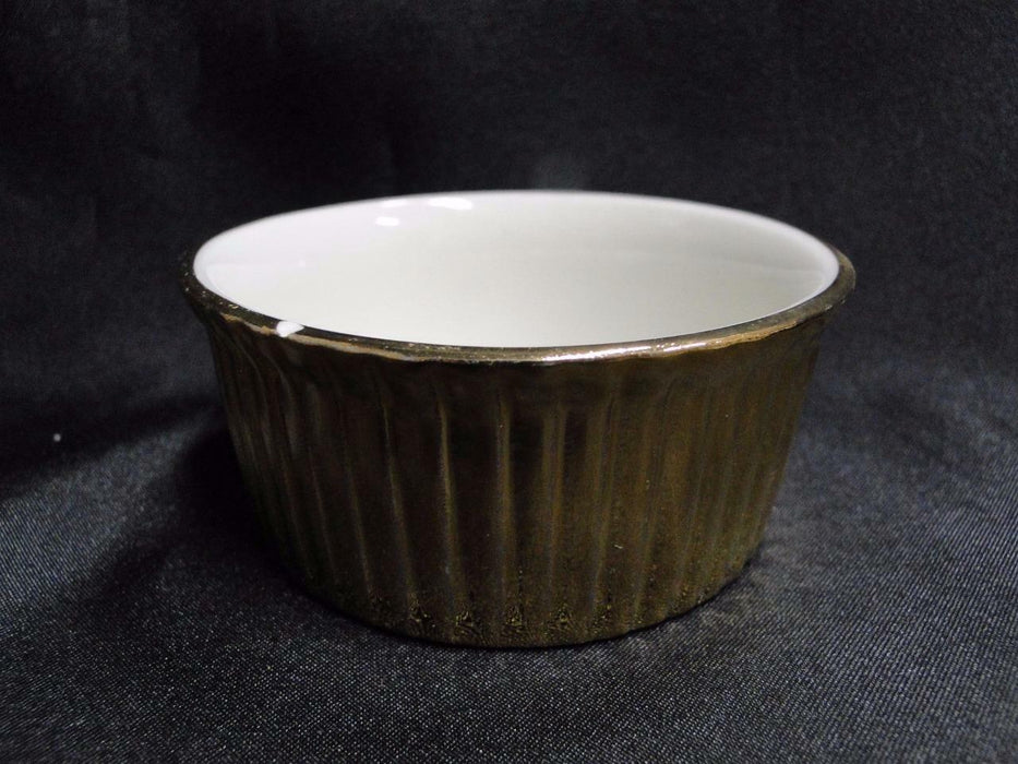 "Hall Golden Glo: Ramekin  845, 3 1/2"" x 1 1/2"" AS IS"