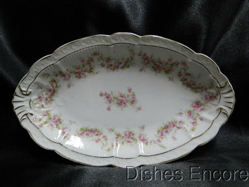 "Zeh, Scherzer & Co 508, Pink Rose Garland: Oval Relish, 9"" x 5 1/2"""