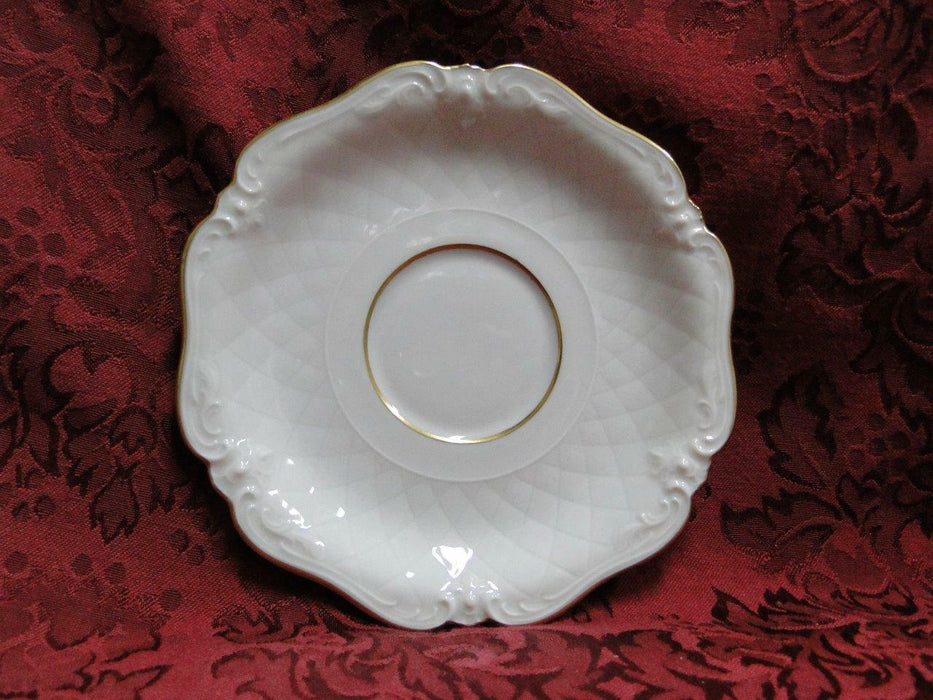 "Royal Coburg, Ivory w/ Embossed Lattice: 6"" Saucer (s) Only - Cup Not Included"