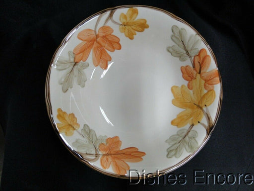 Franciscan October, Fall Leaves: Round Serving Bowl AS IS, Crazing 8 3/4""