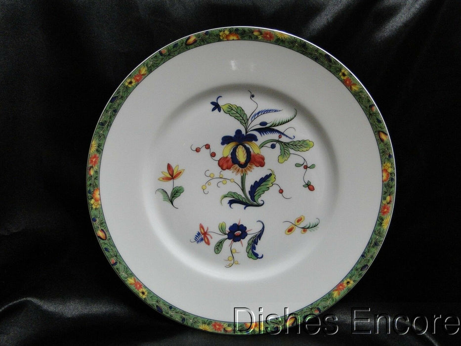 Raynaud Ceralene Louviers, Flowers, Green Band: Dinner Plate (s), 10 7/8""