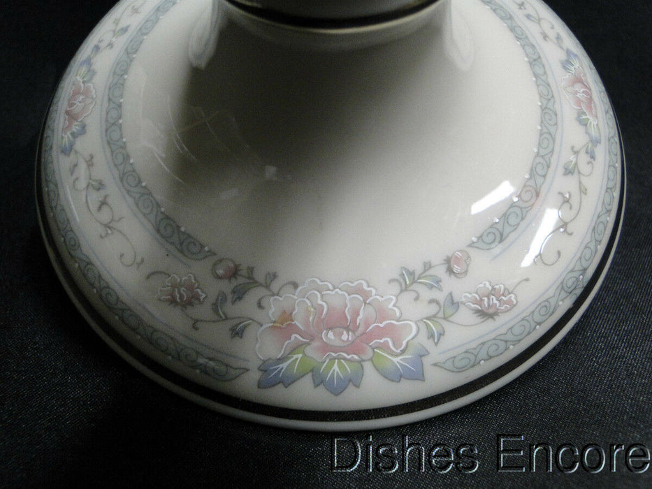 Lenox Charleston Pastel Floral Band, Platinum: Tall Candlestick (s) 7""