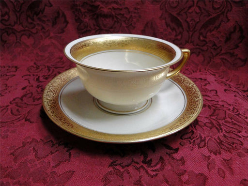 Pickard / Heinrich Pic76, Encrusted Gold Roses & Leaves: Cup & Saucer Set (s)