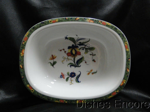 Raynaud Ceralene Louviers, Flowers, Green Band: Oval Serving Bowl (s), 9 5/8""