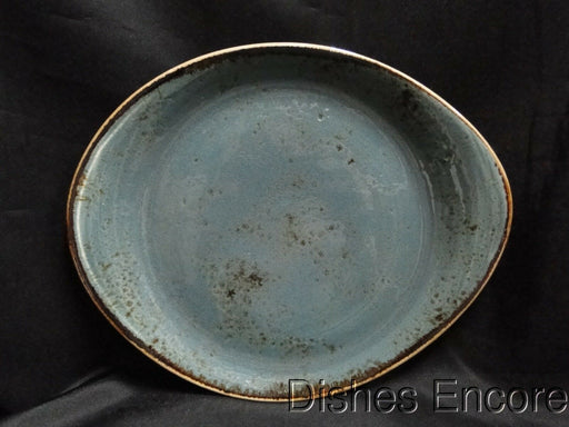"Steelite Craft, England: NEW Blue Freestyle Salad Plate (s), 9 3/4"" x 8"""