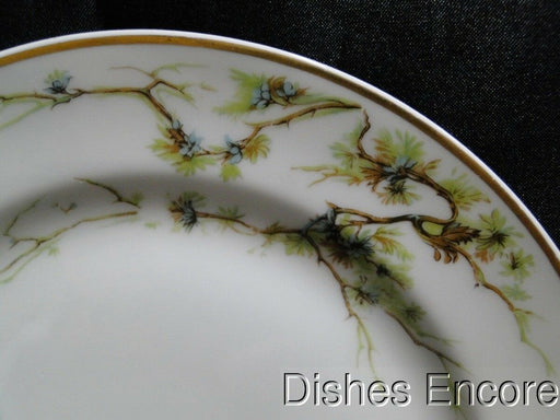 Haviland Schleiger 432, Limoges, Brown Vine, Blue Floral: Salad Plate 7 1/2""