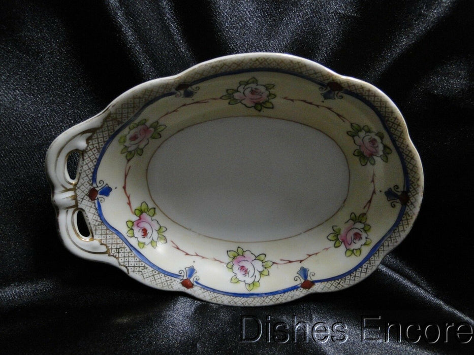 Noritake Pink Roses on a Cream Band, Gold Trim: Oval Dish w/ One Handle, 6 1/4""