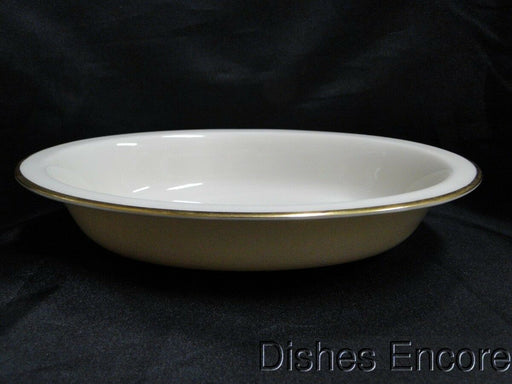 "Lenox Mansfield, Ivory with Gold Trim: Oval Serving Bowl, Wear 9 5/8"" x 7 3/8"""