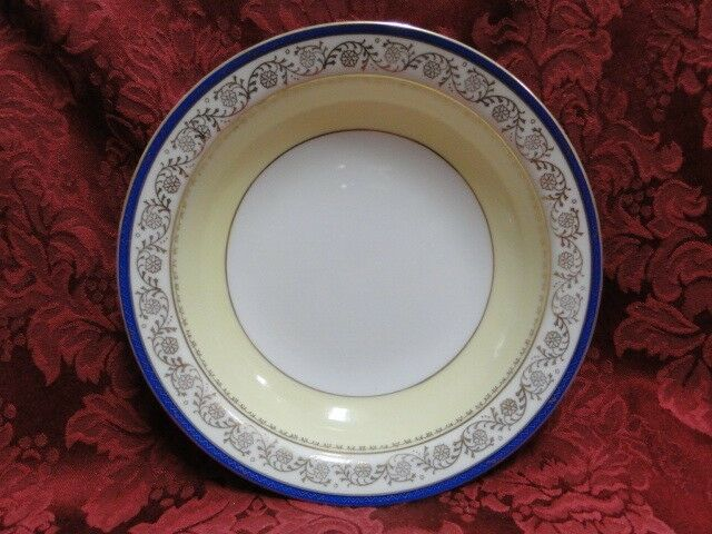 Shimokata Thin Blue Band, Gold Scrolls, Smooth: Fruit Bowl (s), 5 3/8""