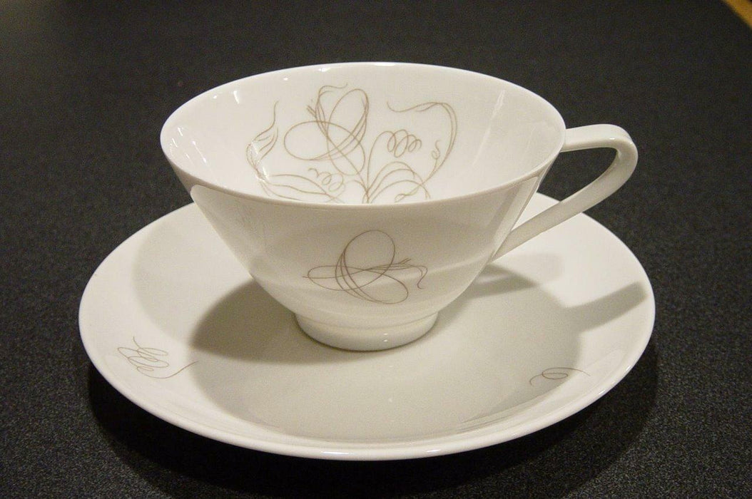 Hutschenreuther Trend Diadem Scroll Design: Cup and Saucer Set (s)
