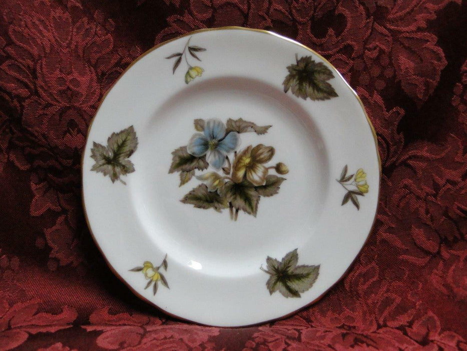 Royal Worcester Dorchester, Brown & Yellow Flowers: Bread Plate (s), 6""