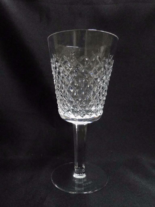 "Waterford Crystal Alana, Cut Cross Hatch: Water Goblet (s), 6 7/8"" Tall"