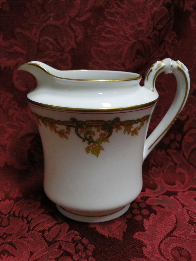 Haviland (Limoges) Schleiger 290 Green Chain, Red Berries:Creamer