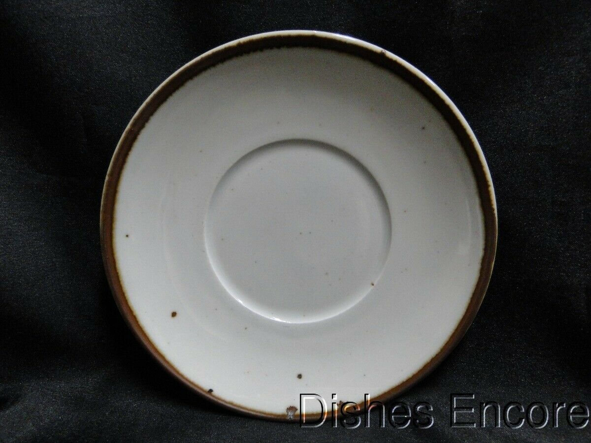 "Dansk Brown Mist, Brown Trim, Speckles: Saucer Only 6 1/4"", Coupe Shape"