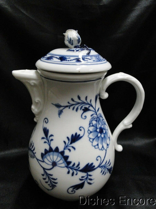 "Meissen Blue Onion, ""X"" Backstamp: Coffee Pot with Lid AS IS, Chipped"